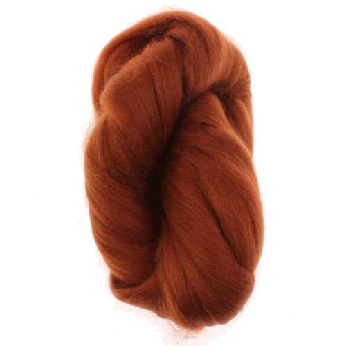 105. Alpaca Fibre Tops - Rust