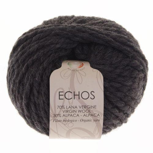 105. 'Echos' Organic Yarn on Ball - Charcoal 154