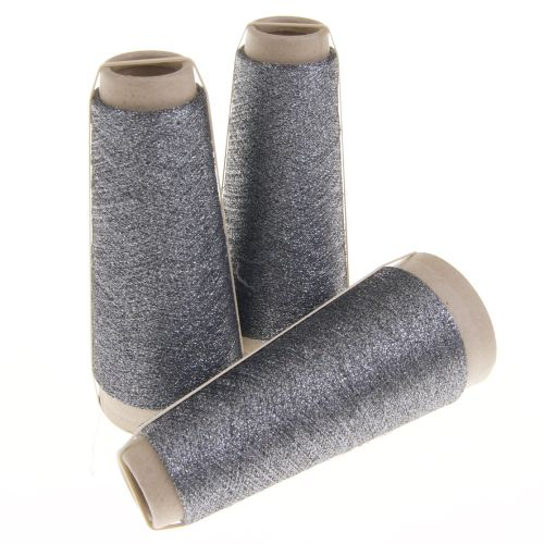 114. Classic Twist Lurex - Medieval Grey 1417
