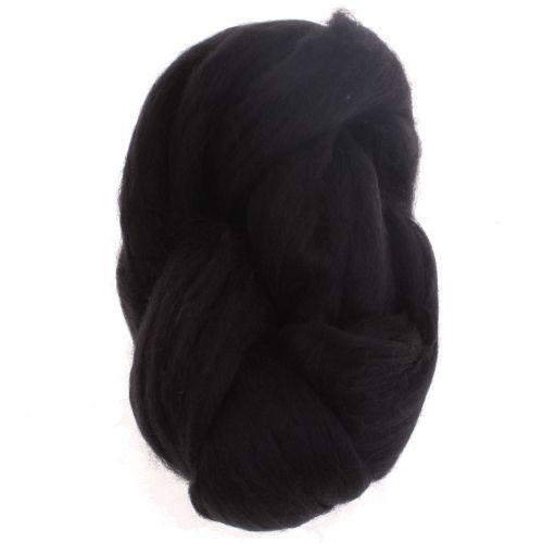 102. Merino Fibre Top - Black