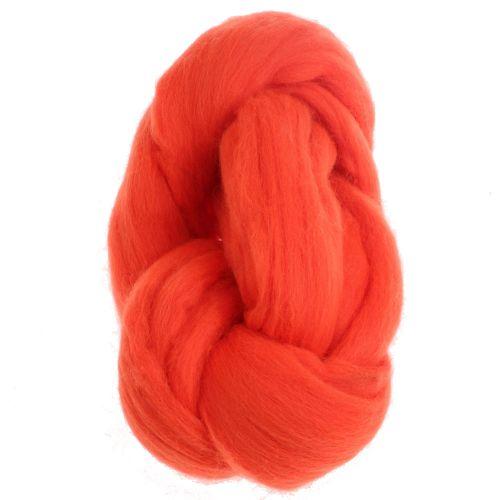 108. Merino Fibre Top - Fluo Orange