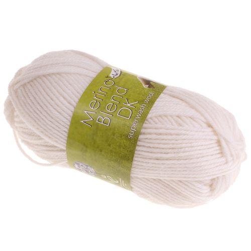 101. DK Merino Wool - White 1