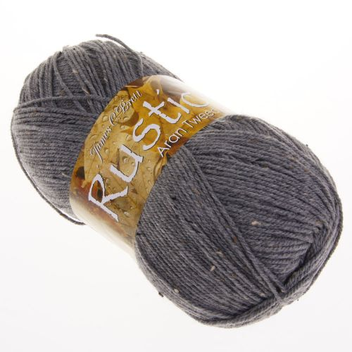 103. 'Rustic' Aran Tweed - Grey DAT13