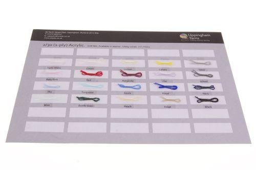 303. Sample Sheet - 2/30 Acrylic Yarn