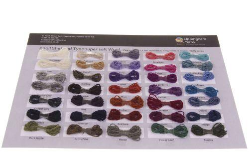 308. Sample Sheet - Shetland Type Wool