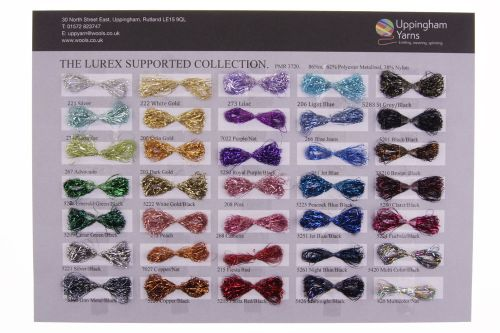 314. Sample Sheet - Lurex Supported Collection