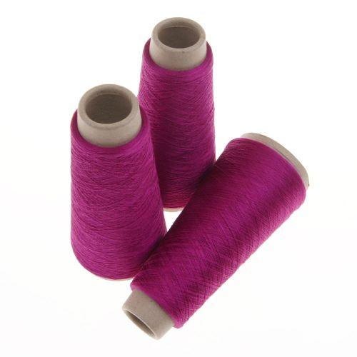114. Spun Silk Yarn - Fuchsia 4641