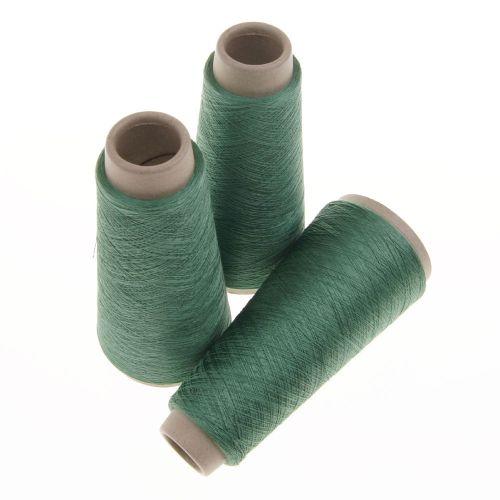 120. Spun Silk Yarn - Green 4646