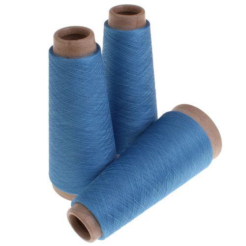 107. Silk & Steel Yarn - Blue