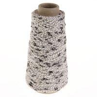 101. Spiral-twisted Yarn - Black / White 8357